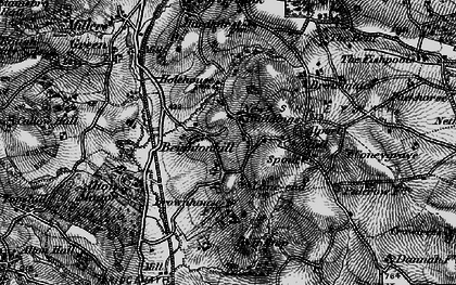 Old map of Ashleyhay in 1895