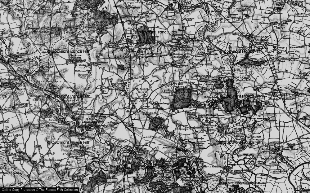 Old Map of Ashmanhaugh, 1898 in 1898