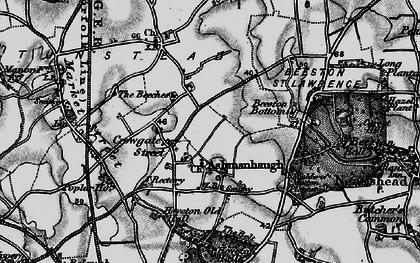 Old map of Ashmanhaugh in 1898