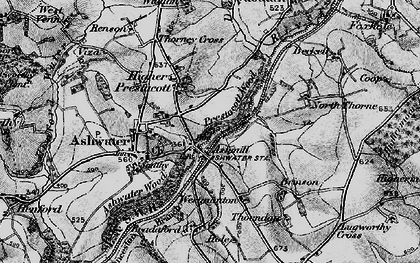Old map of Ashmill in 1895