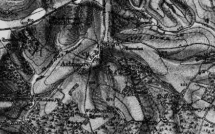 Old map of Ashmore Down in 1895
