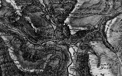 Old map of Win Hill in 1896