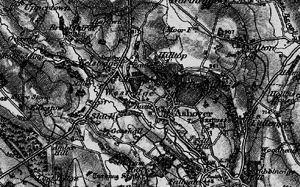 Old map of Ashover in 1896