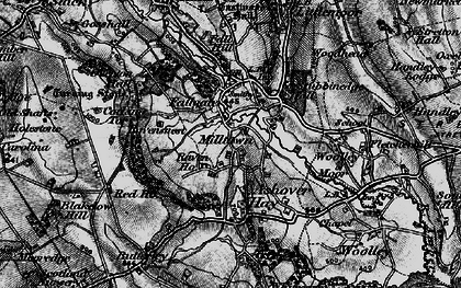 Old map of Ashover Hay in 1896