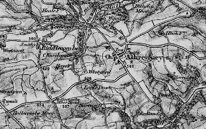 Old map of Ashreigney in 1898