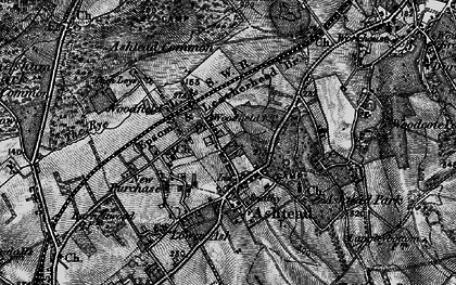 Old map of Ashtead Park in 1896