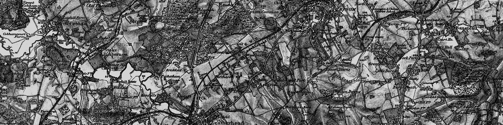 Old map of Ashtead in 1896