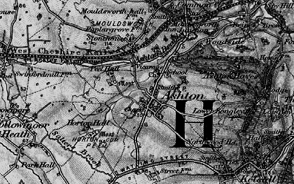 Old map of Ashton Brook in 1896