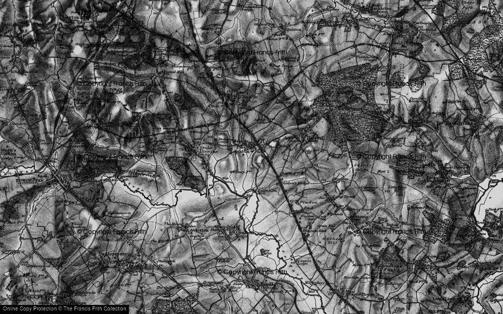 Old Map of Ashton, 1896 in 1896
