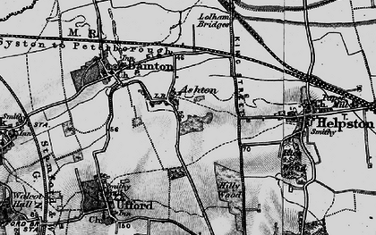 Old map of Ashton in 1898