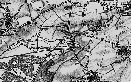 Old map of Ashton Common in 1898
