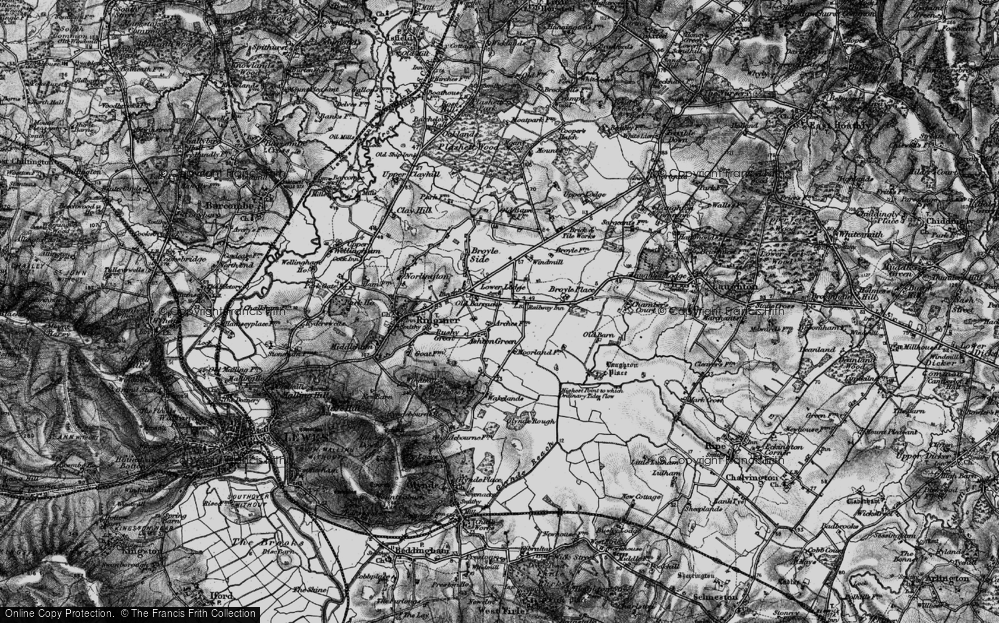 Old Map of Historic Map covering Laughton Place in 1895