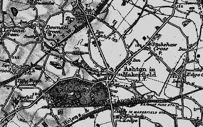 Old map of Ashton-in-Makerfield in 1896