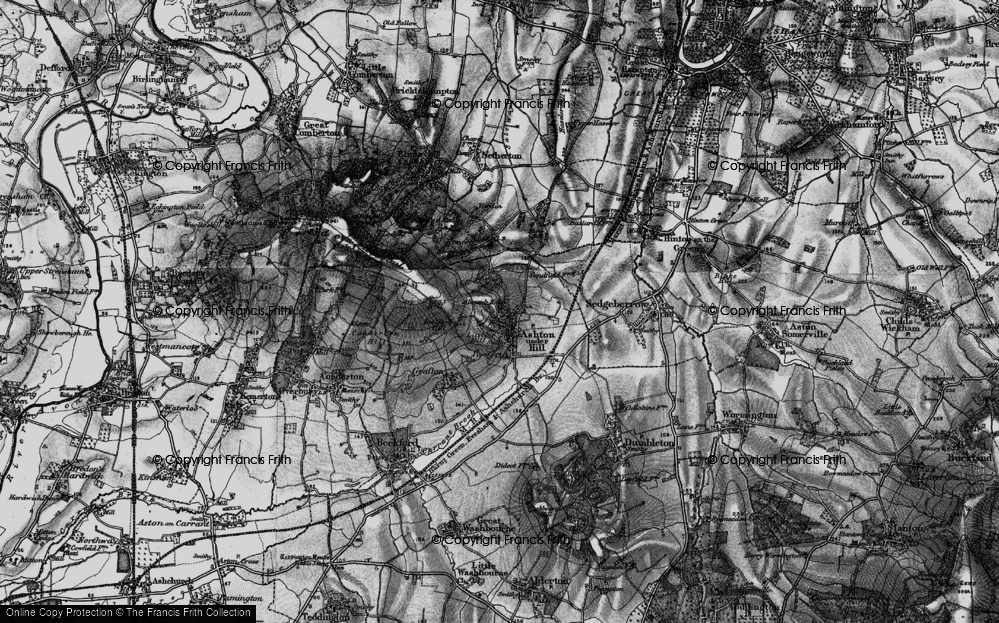 Old Map of Ashton under Hill, 1898 in 1898