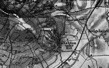 Old map of Ashton under Hill in 1898