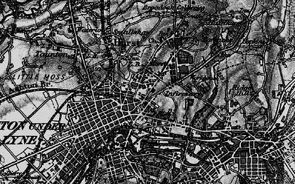 Old map of Ashton-Under-Lyne in 1896