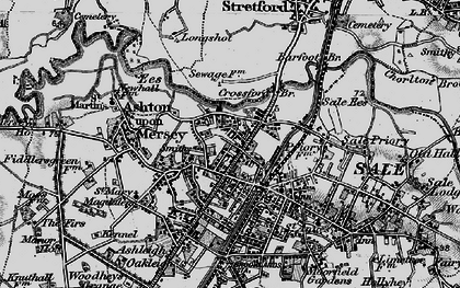 Old map of Ashton Upon Mersey in 1896
