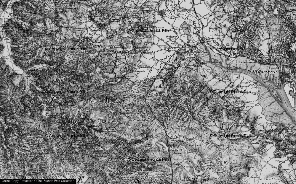 Old Map of Historic Map covering Ashurst Wood in 1895