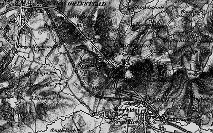 Old map of Brambletye House in 1895