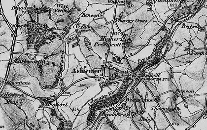 Old map of Ashwater in 1895