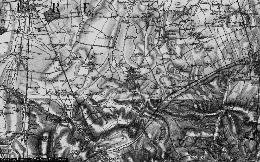 Old Map of Historic Map covering Ash Hill in 1896