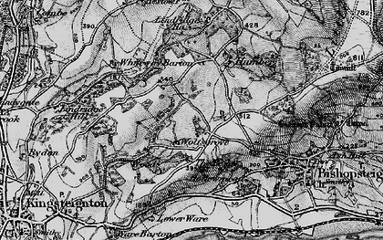 Old map of Wolfsgrove in 1898