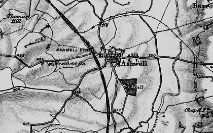 Old map of Ashwell Court in 1899