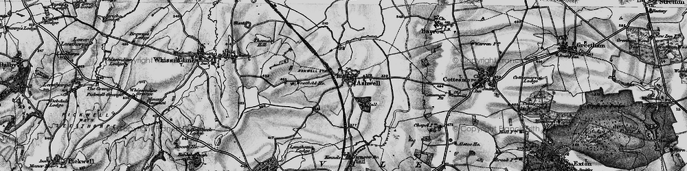 Old map of Ashwell in 1899