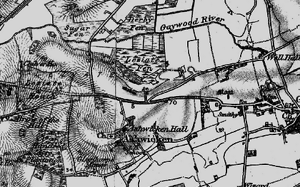 Old map of Ashwicken in 1893