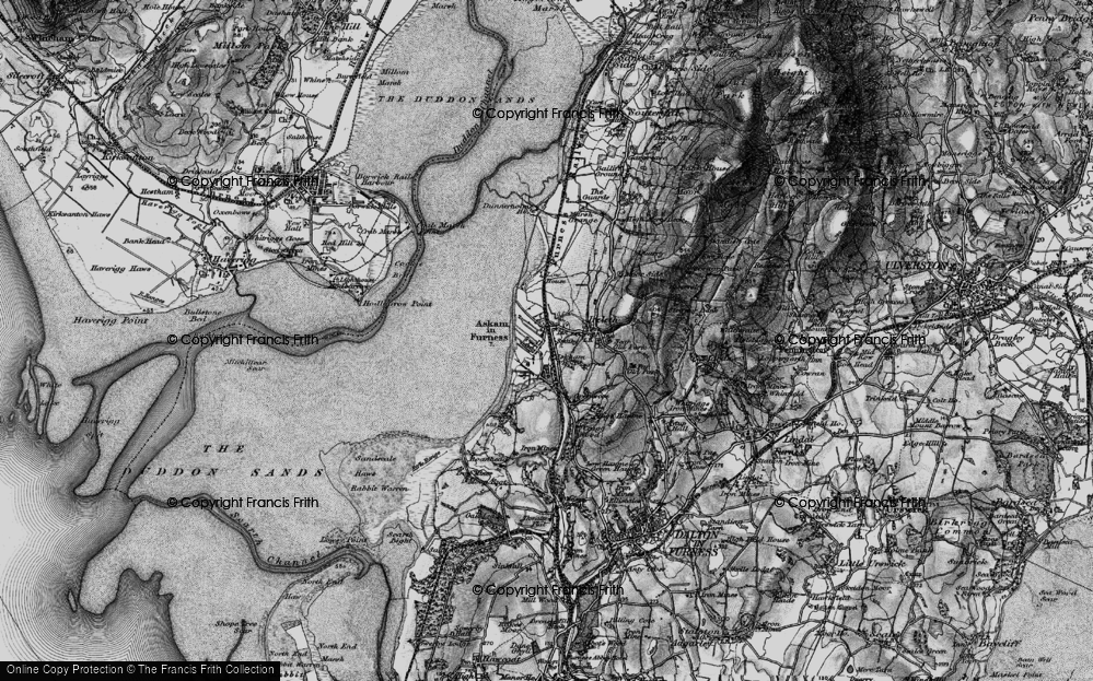 Old Map of Askam in Furness, 1897 in 1897