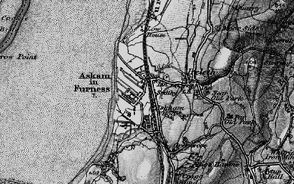 Old map of Askam in Furness in 1897