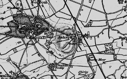Old map of Askern in 1895