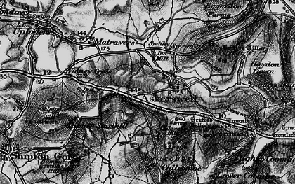 Old map of Askerswell Down in 1897