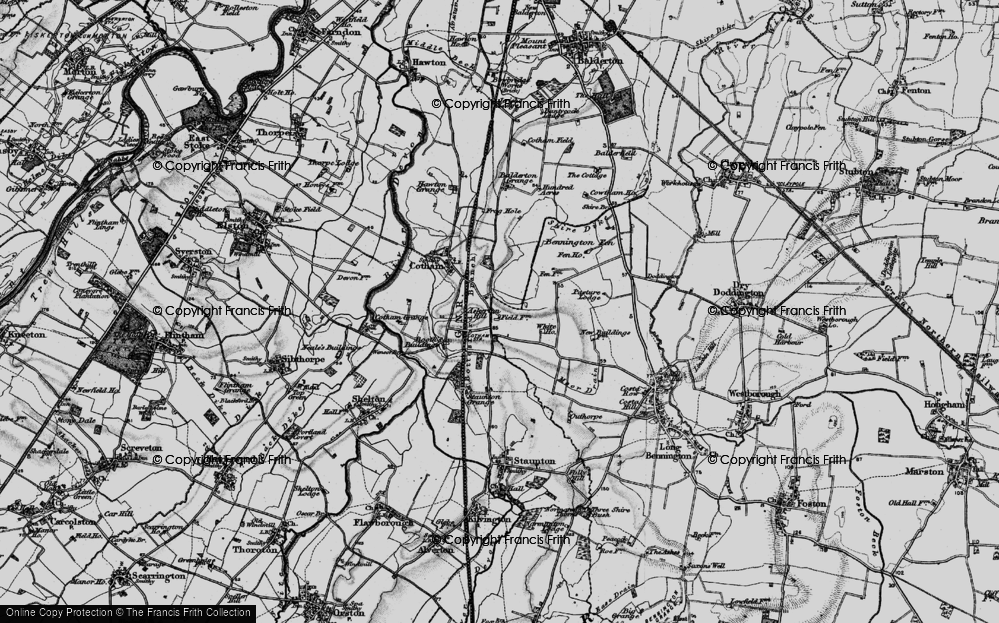 Old Map of Askerton Hill, 1899 in 1899