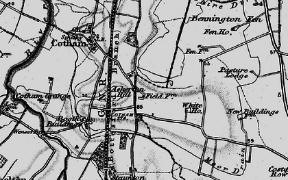Old map of Askerton Hill in 1899