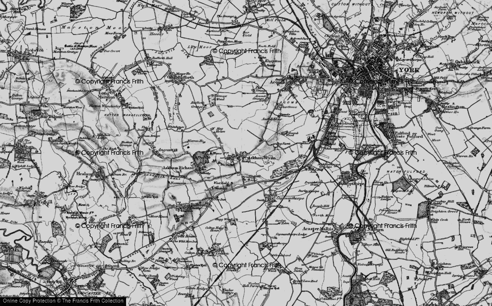 Old Map of Askham Bryan, 1898 in 1898