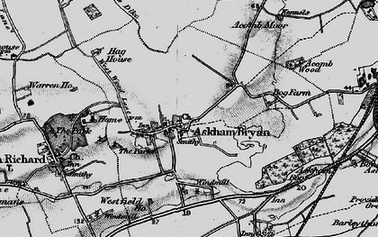 Old map of Askham Bryan in 1898
