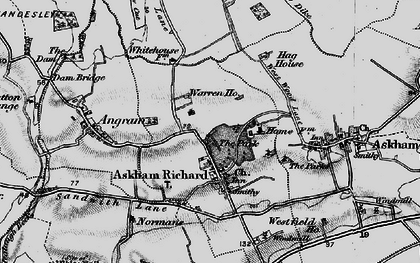 Old map of Askham Richard in 1898