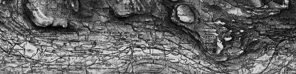 Old map of Askrigg in 1897