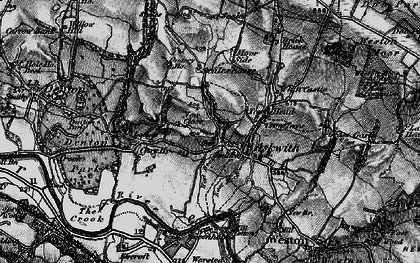 Old map of Askwith in 1898
