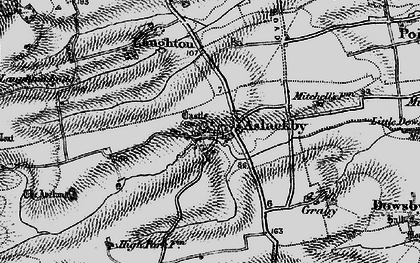Old map of Aslackby in 1895