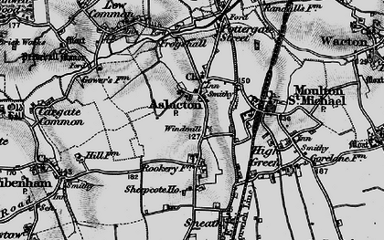 Old map of Aslacton in 1898