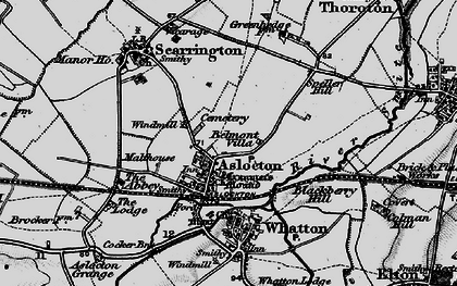 Old map of Aslockton in 1899