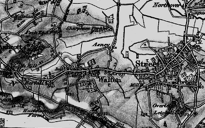 Old map of Asney in 1898