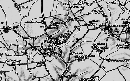 Old map of Aspall Ho in 1898