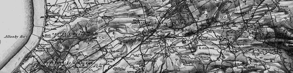 Old map of Whitelees in 1897