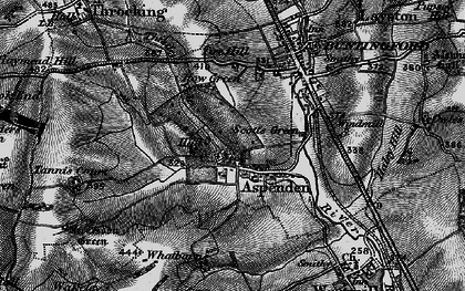Old map of Aspenden in 1896