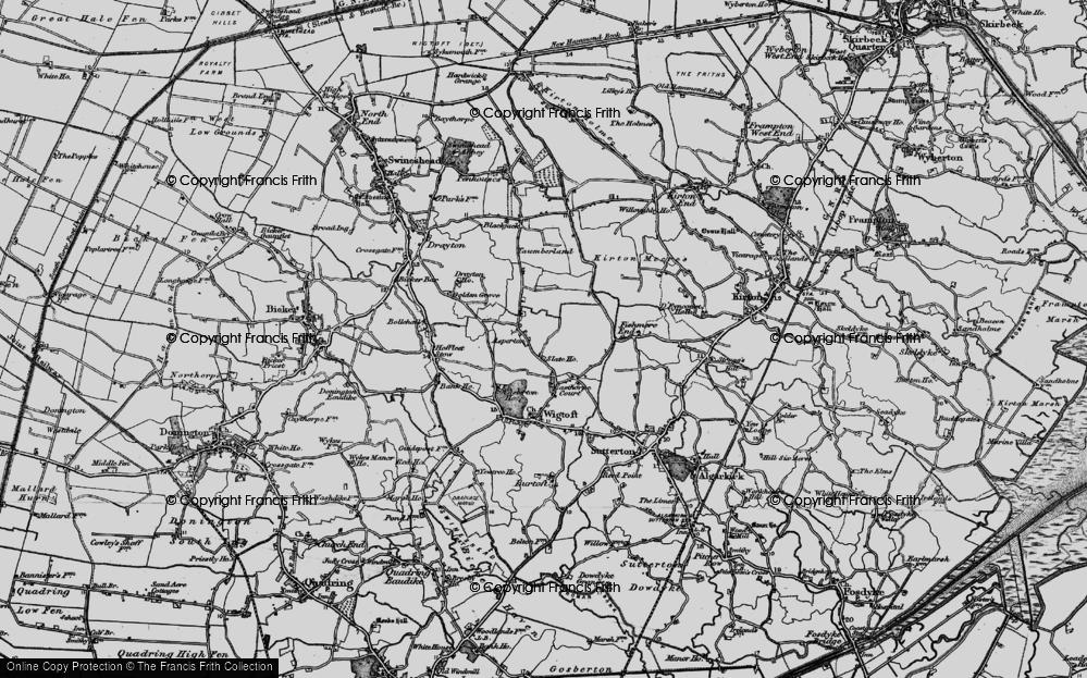 Old Map of Asperton, 1898 in 1898