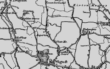 Old map of Asperton in 1898