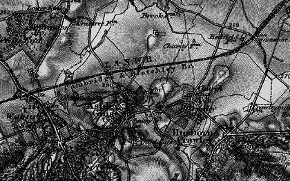Old map of Aspley Guise in 1896